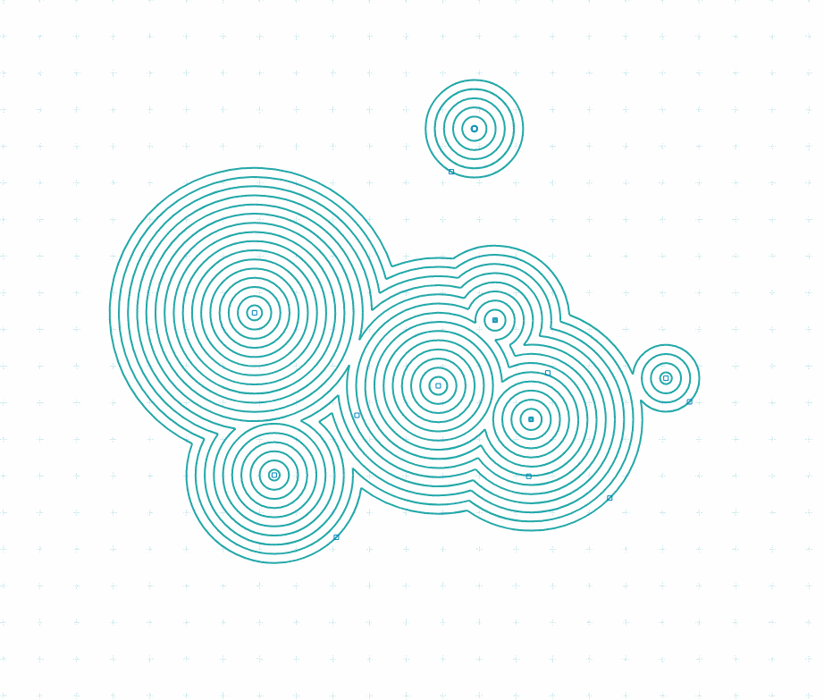 Multiple-circle-intersections